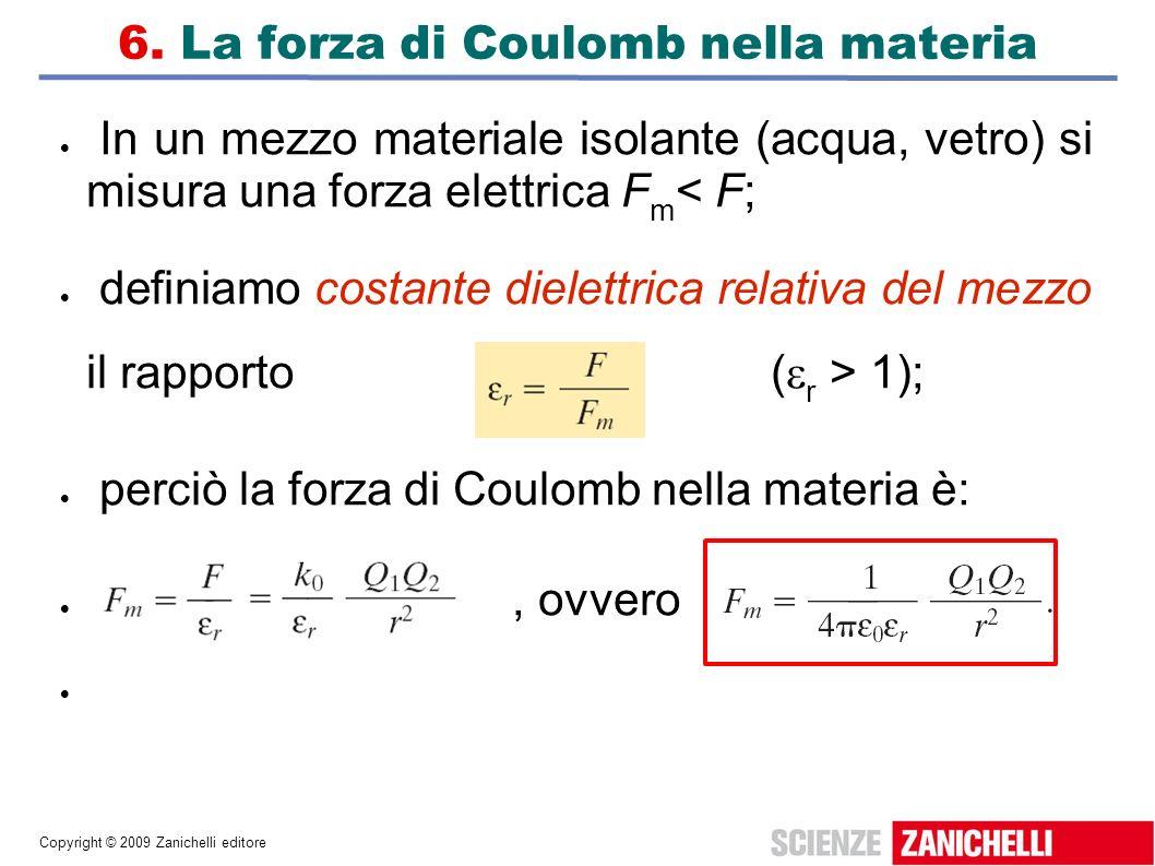 6. La forza di Coulomb nella materia
