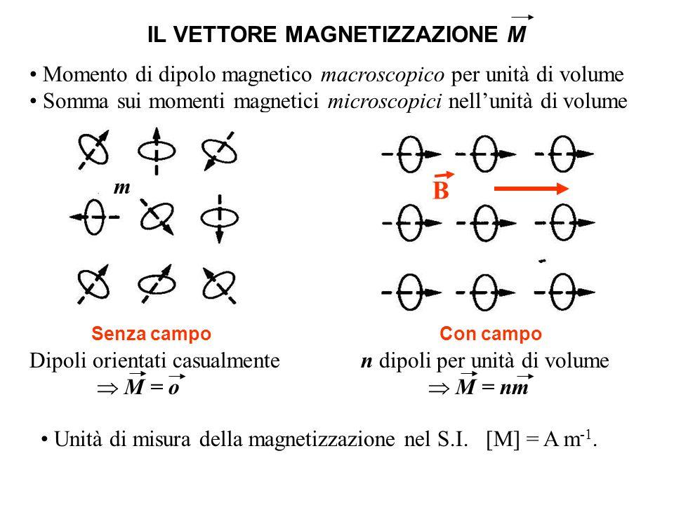 B IL VETTORE MAGNETIZZAZIONE M