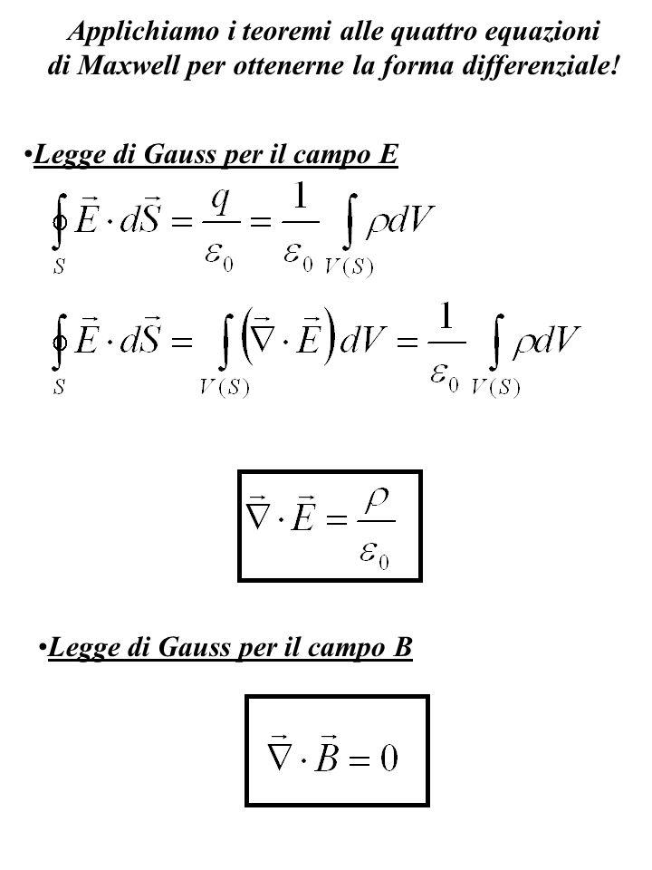 Applichiamo i teoremi alle quattro equazioni