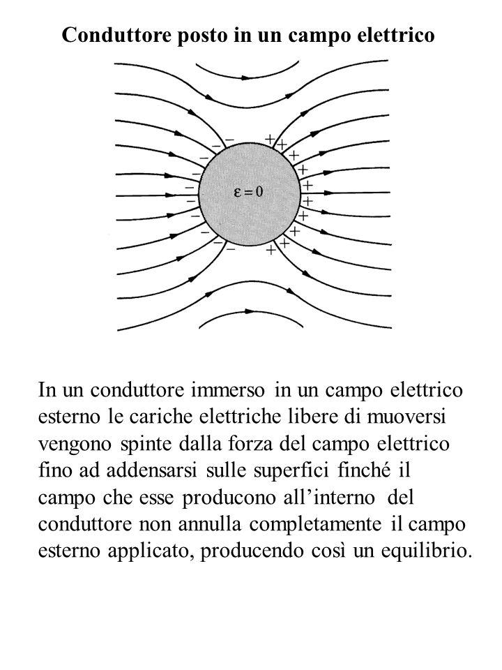 Conduttore posto in un campo elettrico