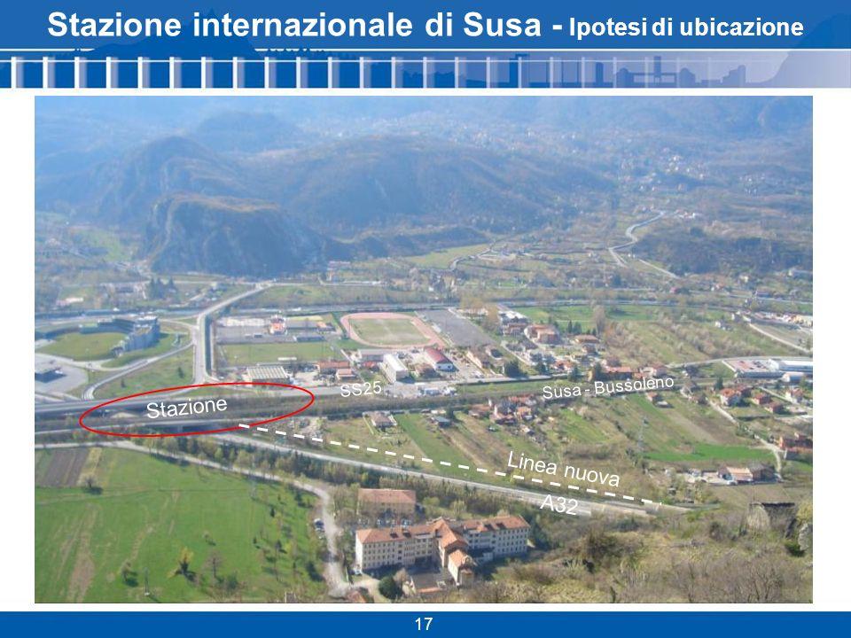 Stazione internazionale di Susa - Ipotesi di ubicazione