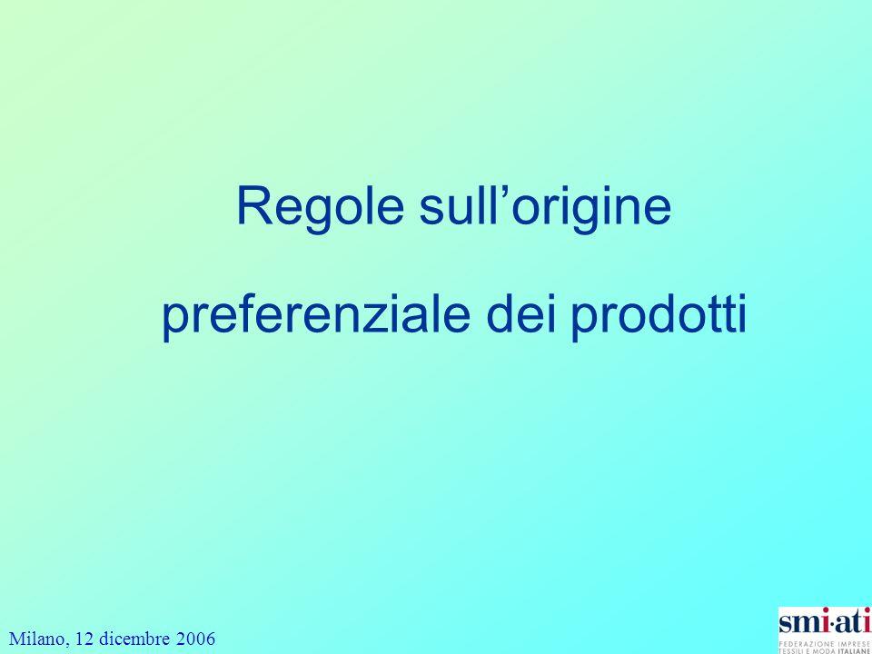 Regole sull'origine preferenziale dei prodotti