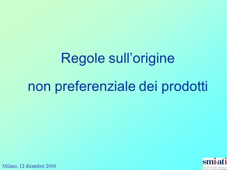 Regole sull'origine non preferenziale dei prodotti