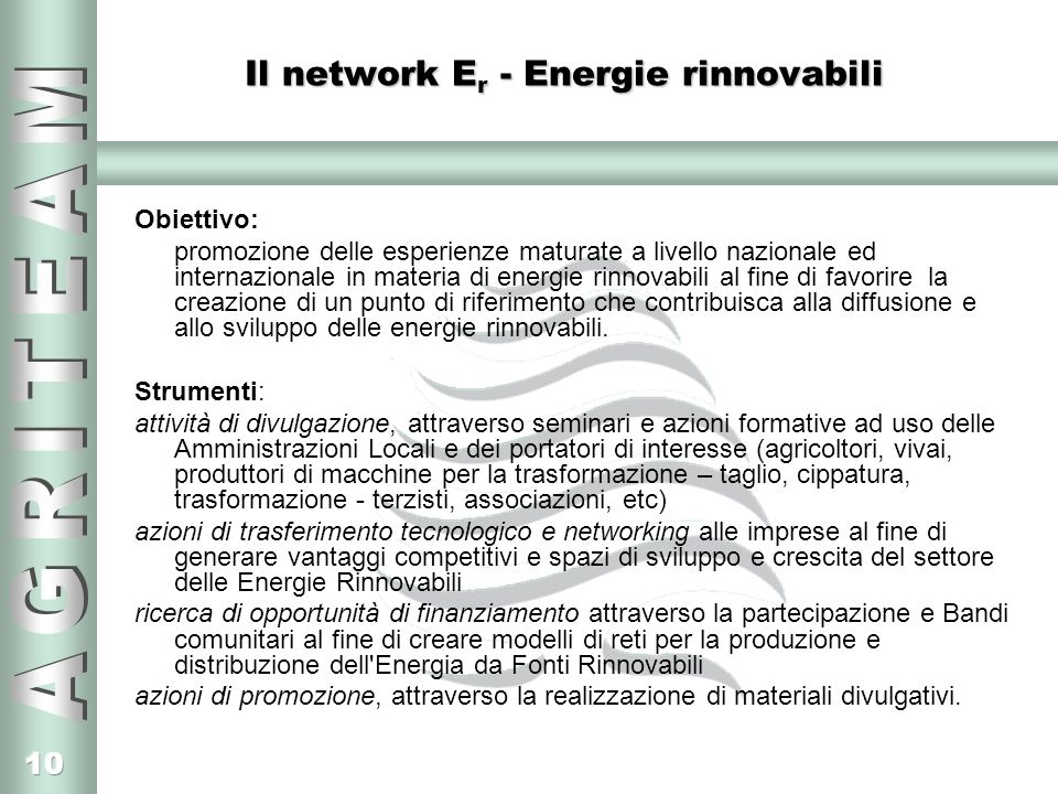 Il network Er - Energie rinnovabili