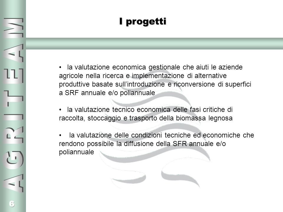 I progetti