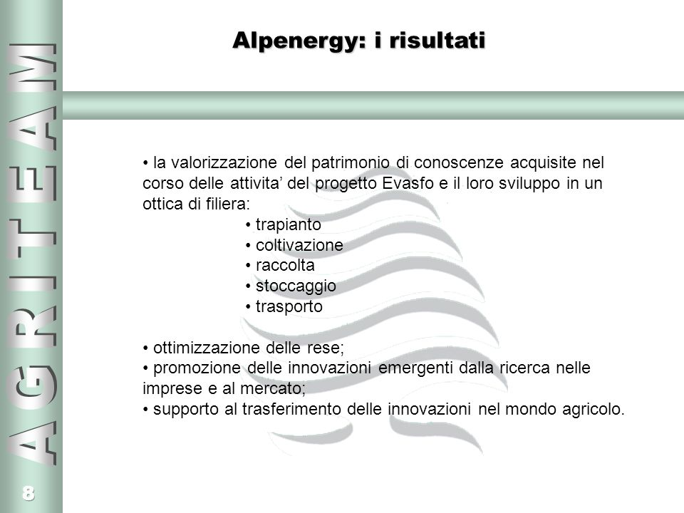 Alpenergy: i risultati