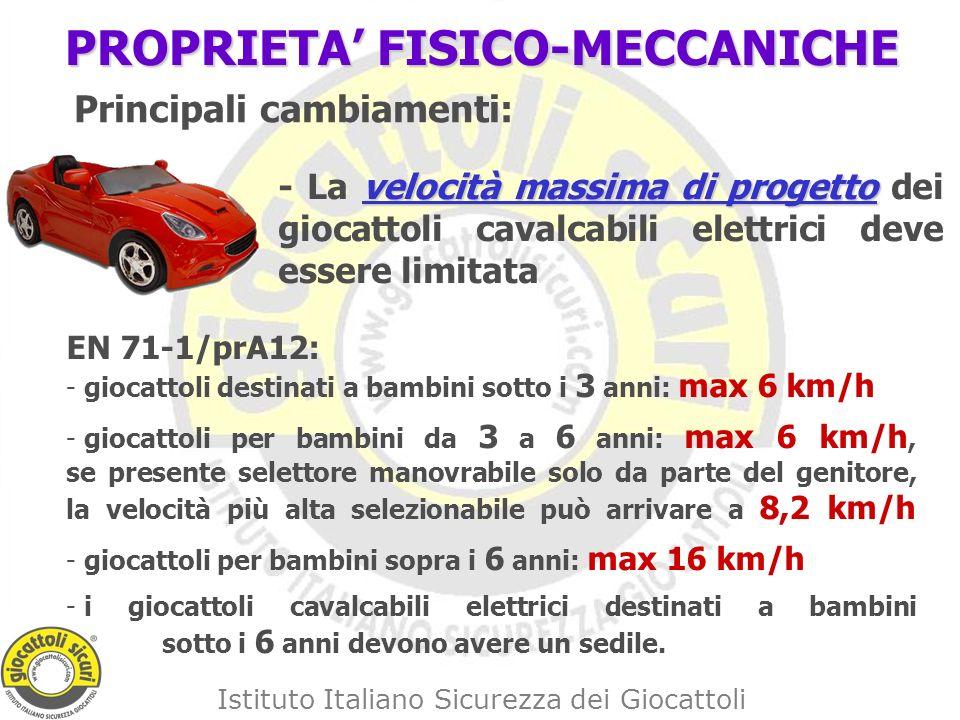 PROPRIETA' FISICO-MECCANICHE