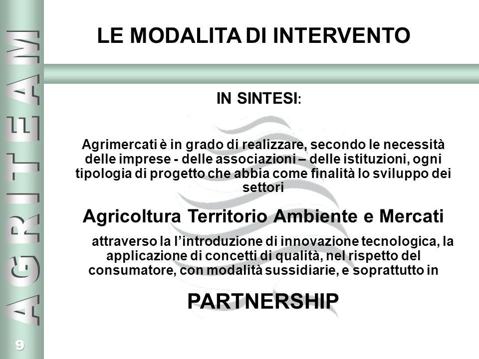 Agricoltura Territorio Ambiente e Mercati
