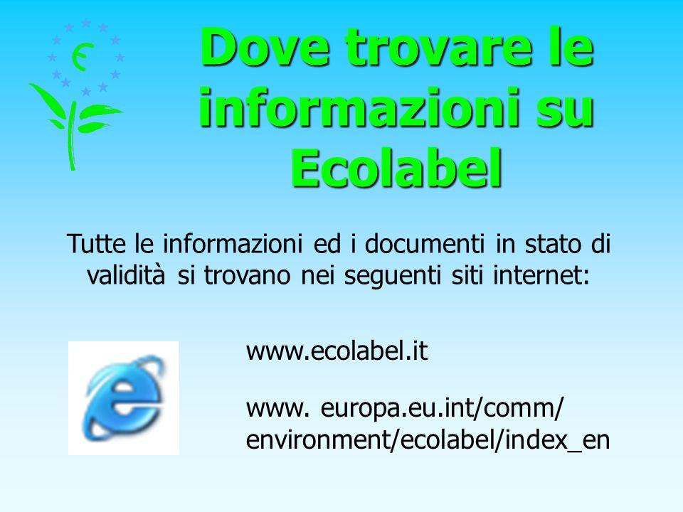 Dove trovare le informazioni su Ecolabel