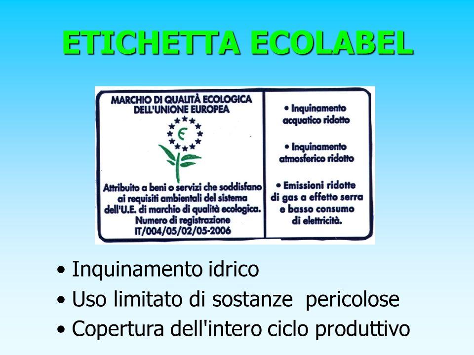 ETICHETTA ECOLABEL Inquinamento idrico