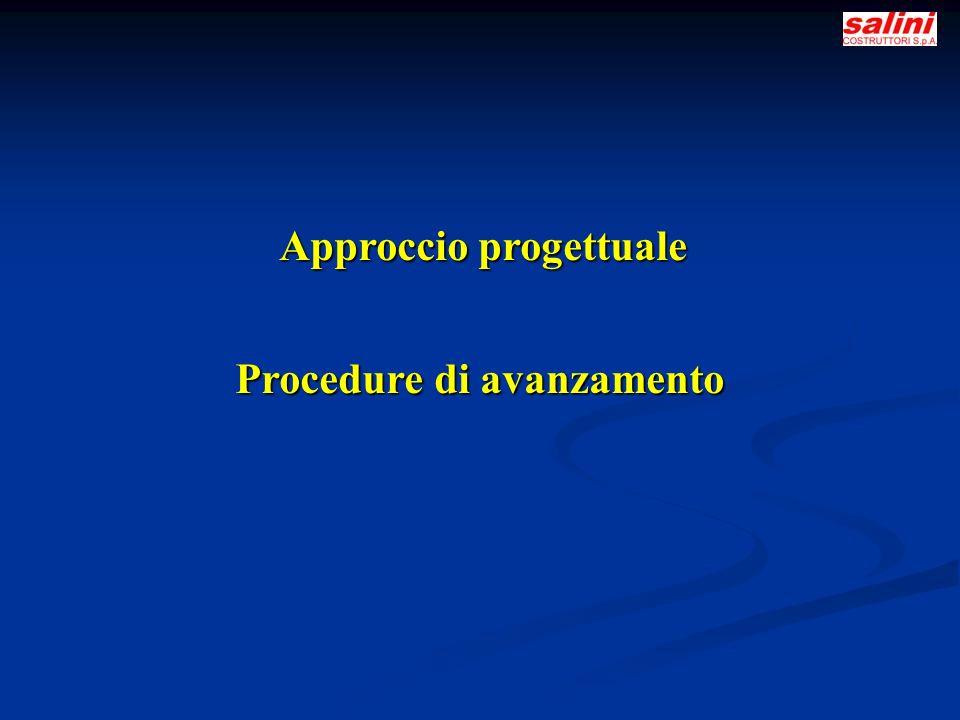 Approccio progettuale Procedure di avanzamento