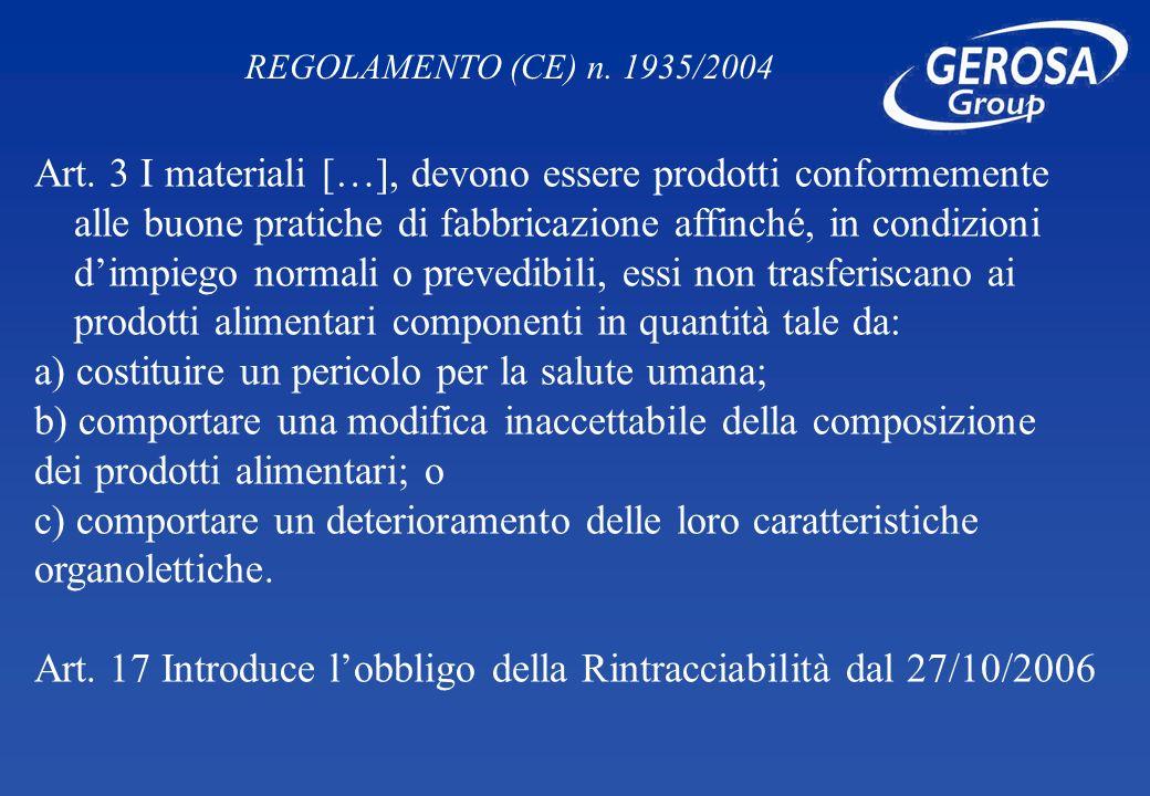 a) costituire un pericolo per la salute umana;