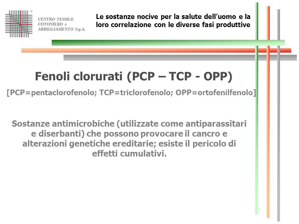 Fenoli clorurati (PCP – TCP - OPP)