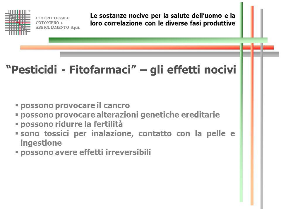 Pesticidi - Fitofarmaci – gli effetti nocivi