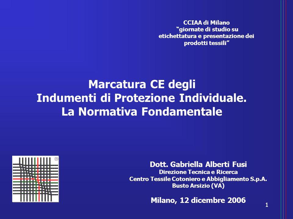 CCIAA di Milano giornate di studio su. etichettatura e presentazione dei prodotti tessili