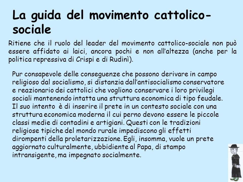 La guida del movimento cattolico- sociale