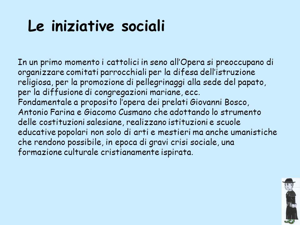 Le iniziative sociali