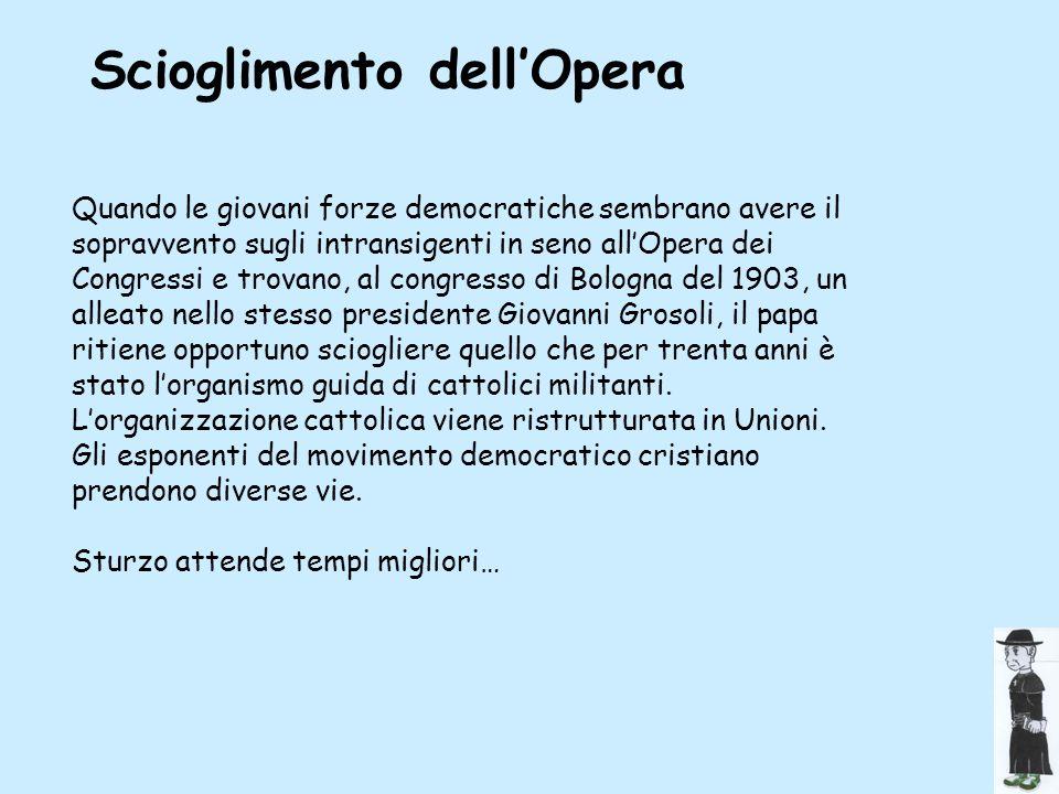 Scioglimento dell'Opera