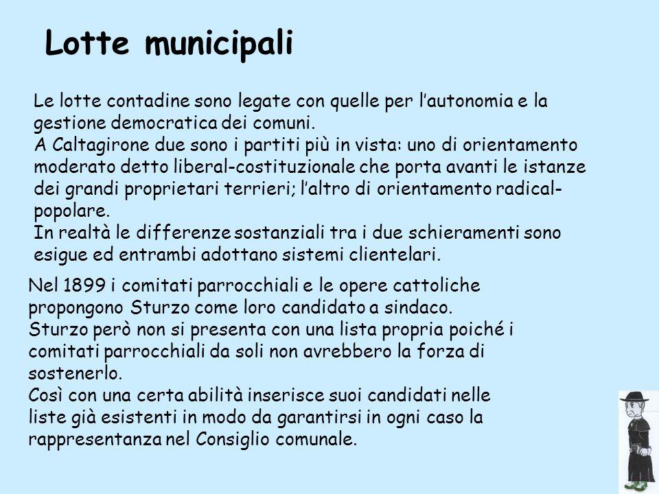 Lotte municipali Le lotte contadine sono legate con quelle per l'autonomia e la gestione democratica dei comuni.