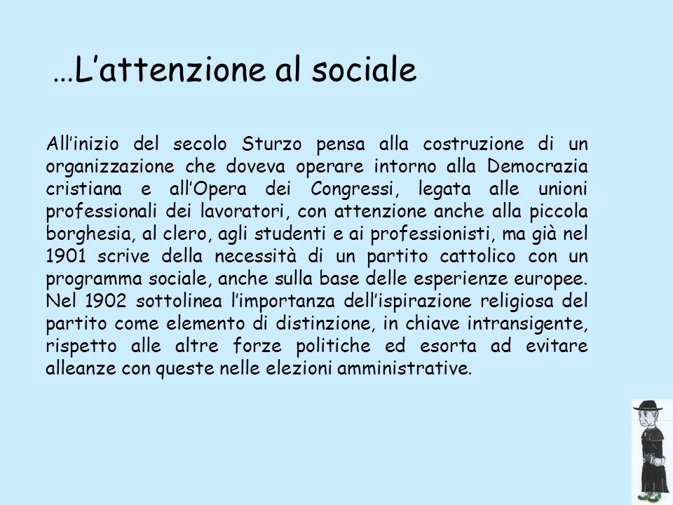 …L'attenzione al sociale