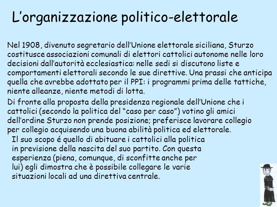 L'organizzazione politico-elettorale