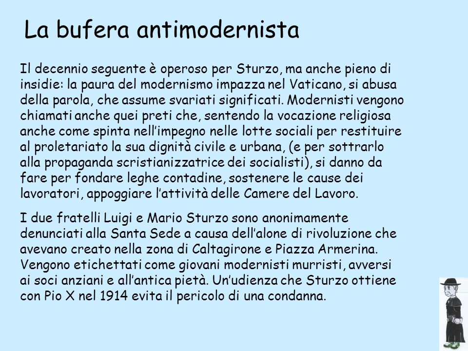 La bufera antimodernista