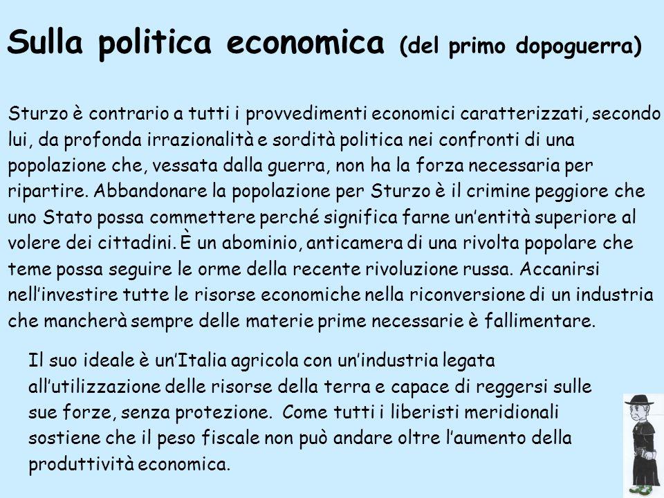 Sulla politica economica (del primo dopoguerra)