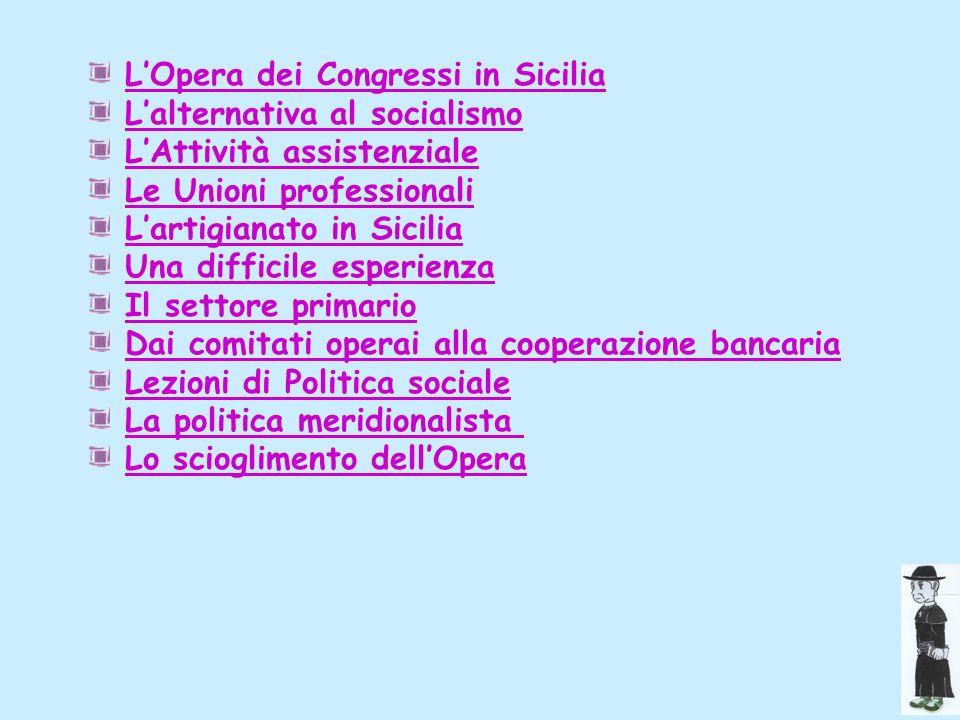 L'Opera dei Congressi in Sicilia