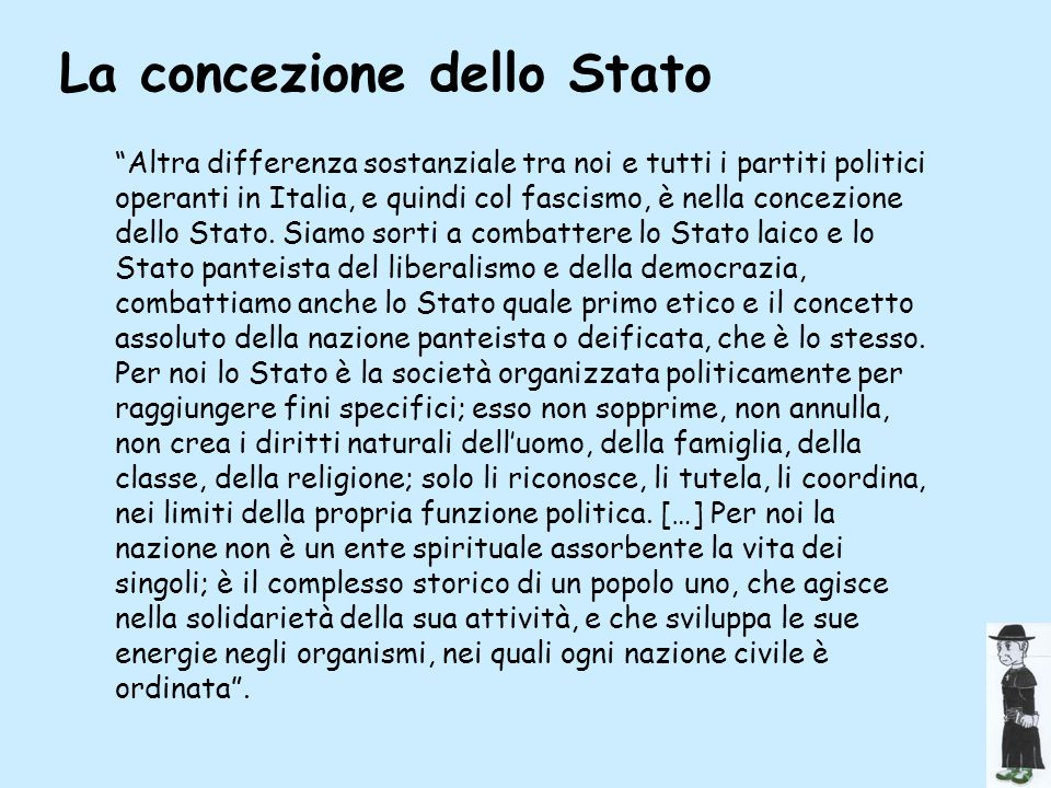 La concezione dello Stato