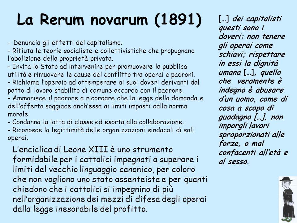 La Rerum novarum (1891)