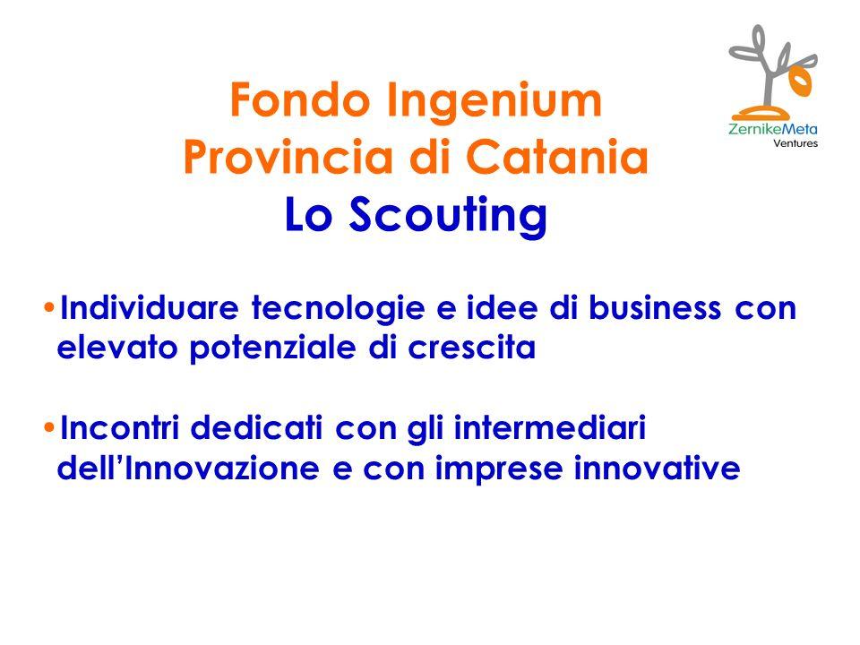 Fondo Ingenium Provincia di Catania Lo Scouting