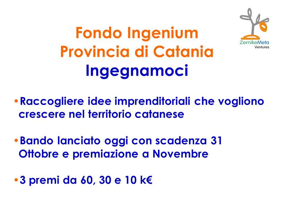 Fondo Ingenium Provincia di Catania Ingegnamoci