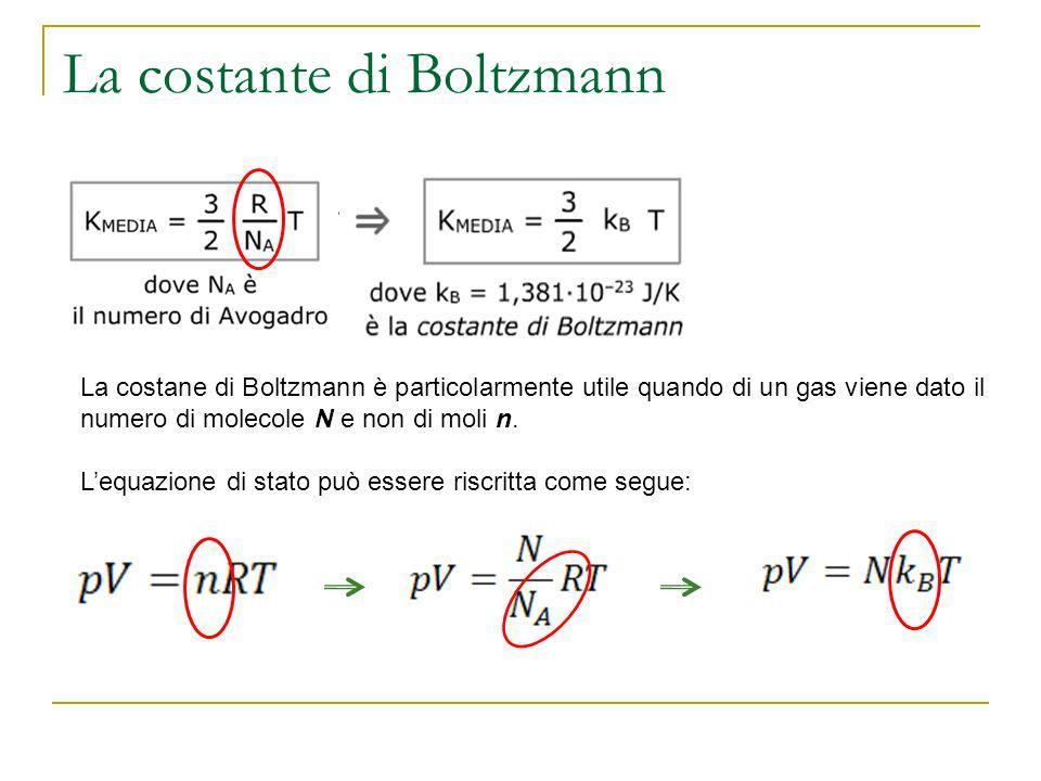 La costante di Boltzmann