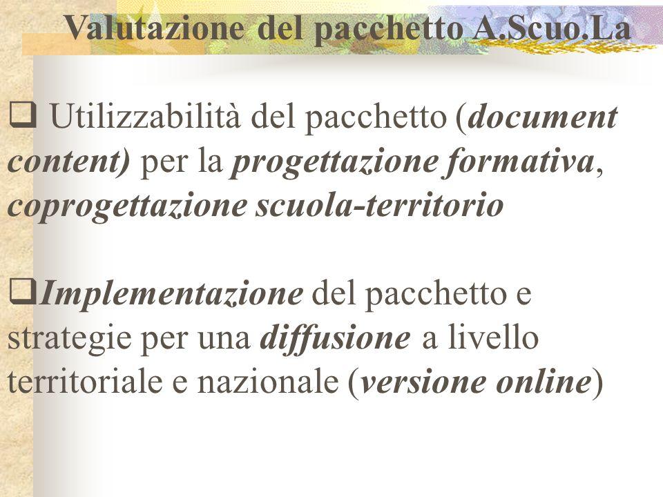 Valutazione del pacchetto A.Scuo.La