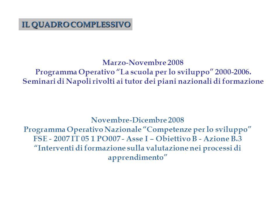 Programma Operativo La scuola per lo sviluppo 2000-2006.