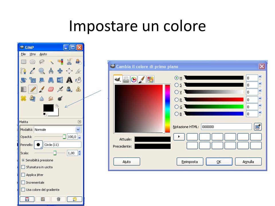 Impostare un colore