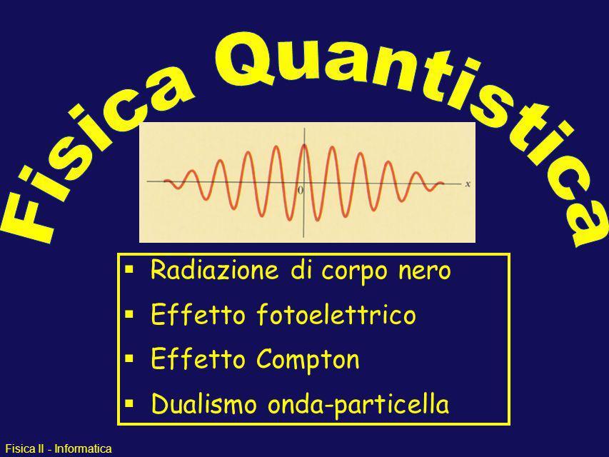 Fisica Quantistica Radiazione di corpo nero Effetto fotoelettrico