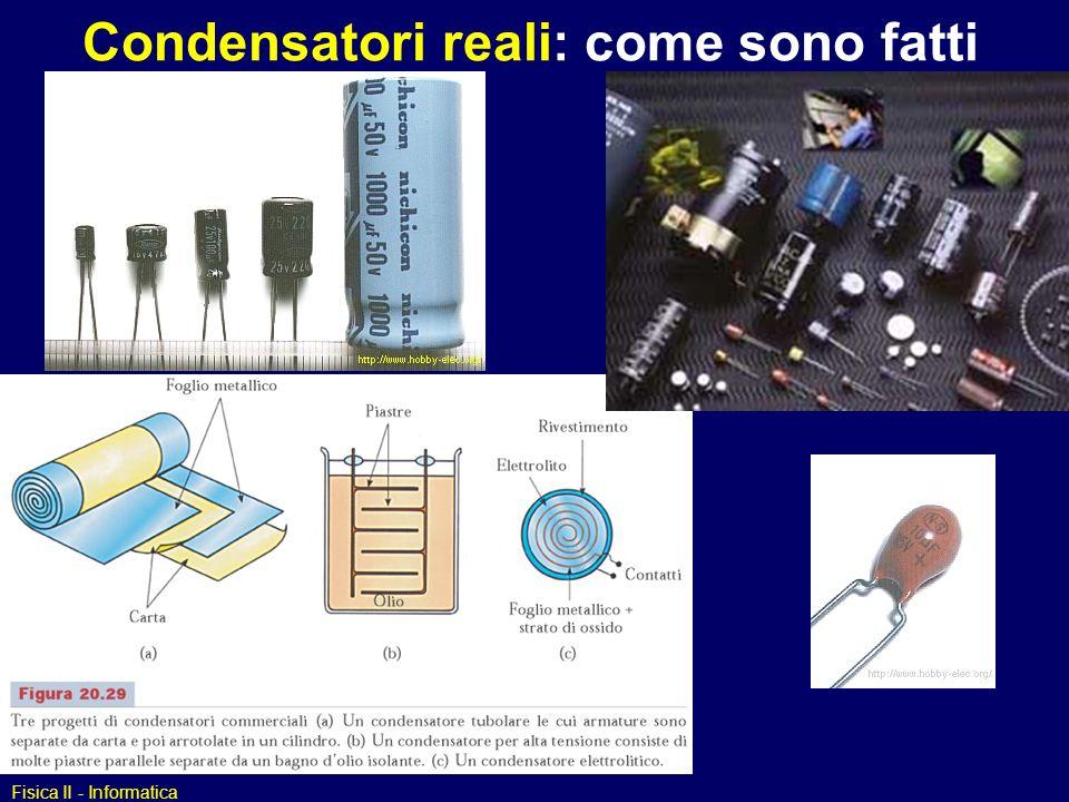 Condensatori reali: come sono fatti