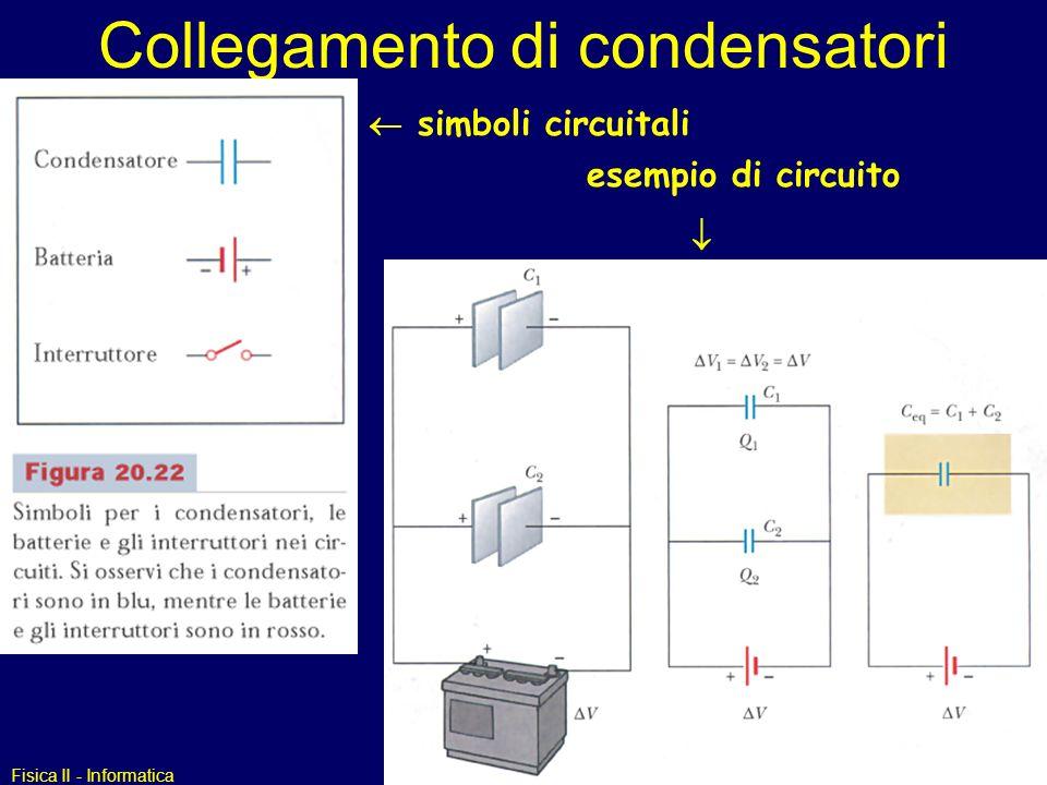 Collegamento di condensatori