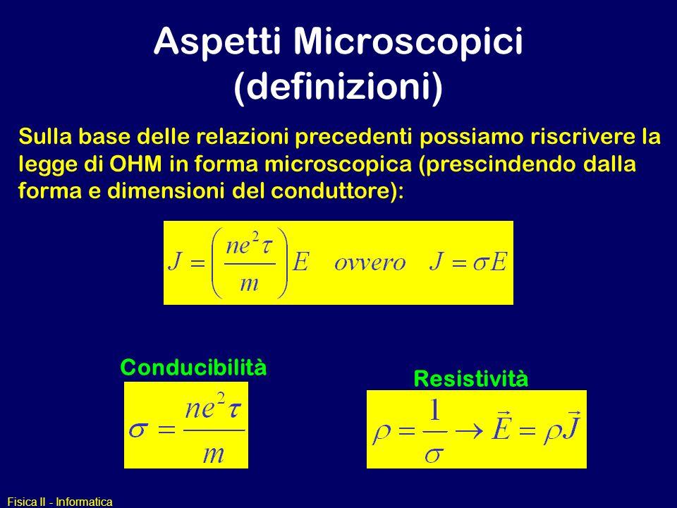 Aspetti Microscopici (definizioni)
