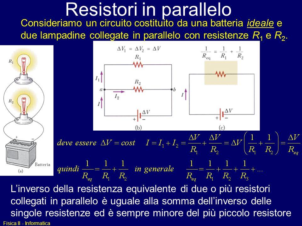 Resistori in parallelo