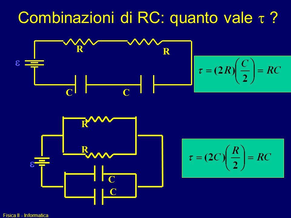 Combinazioni di RC: quanto vale t