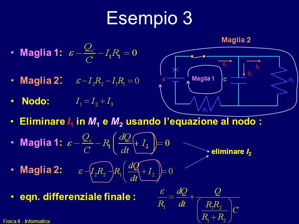 Esempio 3 Maglia 1: Maglia 2: Nodo: