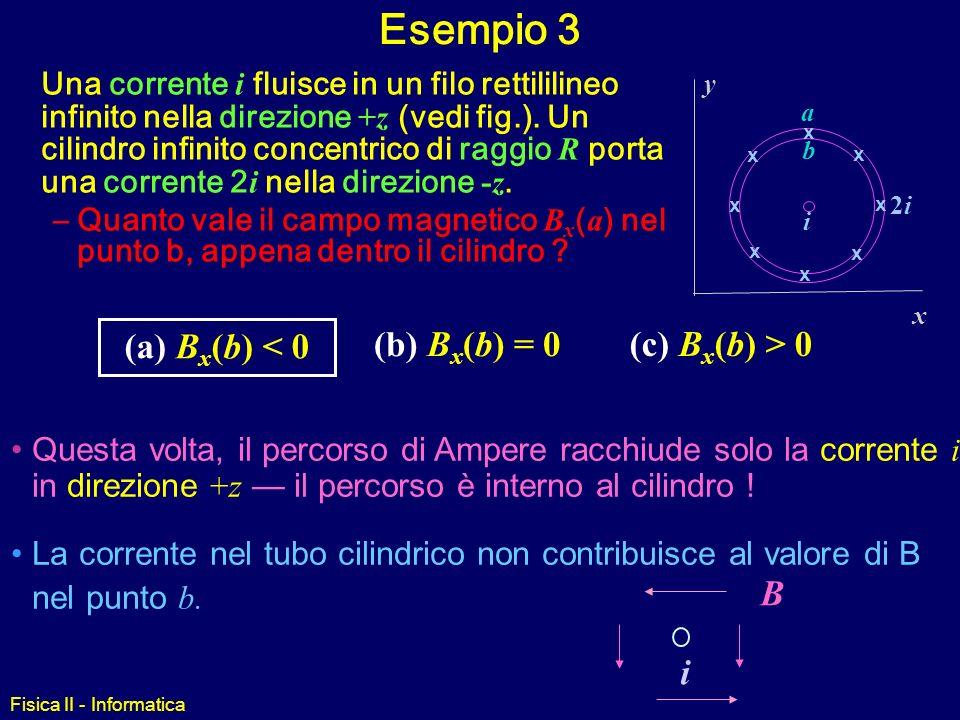 Esempio 3 (a) Bx(b) < 0 (b) Bx(b) = 0 (c) Bx(b) > 0 i B