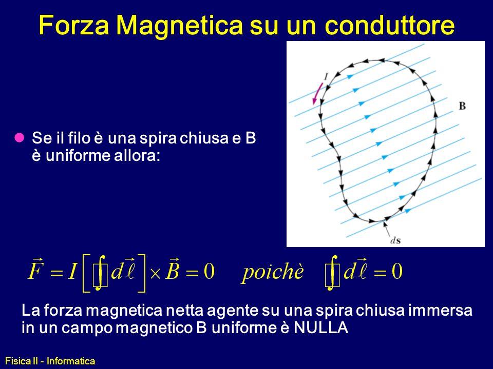 Forza Magnetica su un conduttore