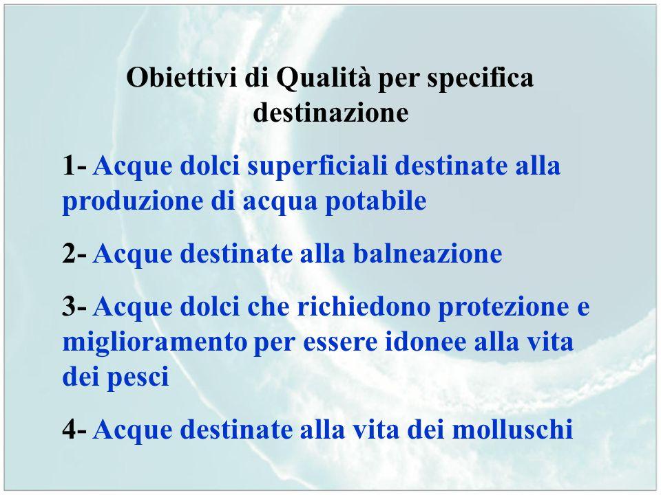 Obiettivi di Qualità per specifica destinazione