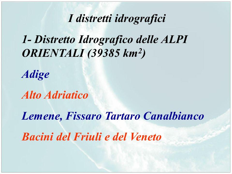 I distretti idrografici