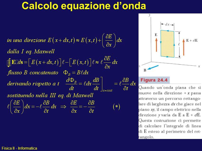 Calcolo equazione d'onda
