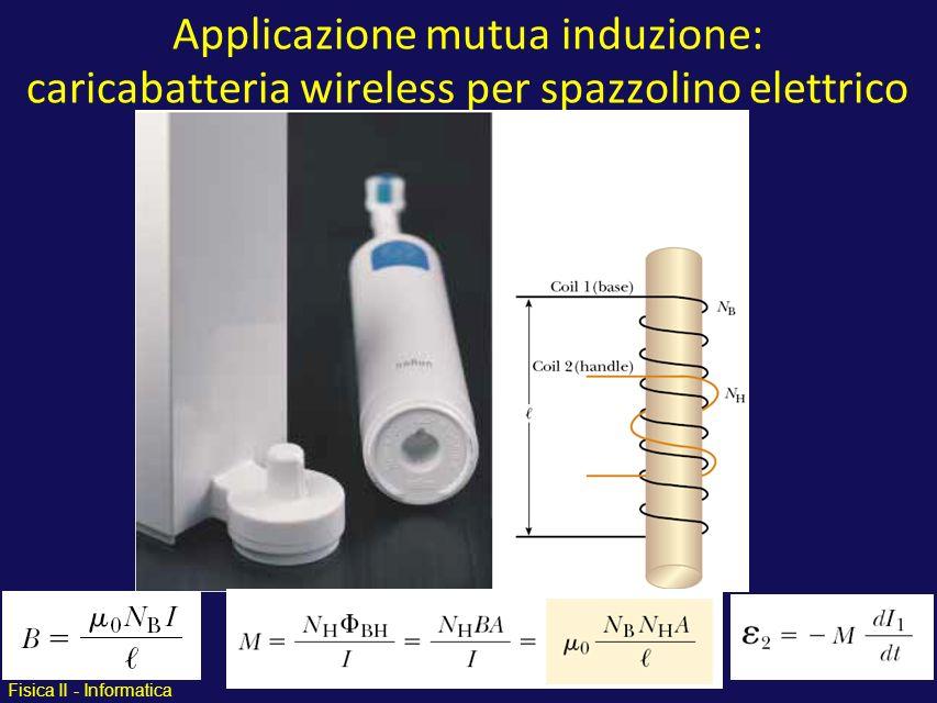 Applicazione mutua induzione: caricabatteria wireless per spazzolino elettrico