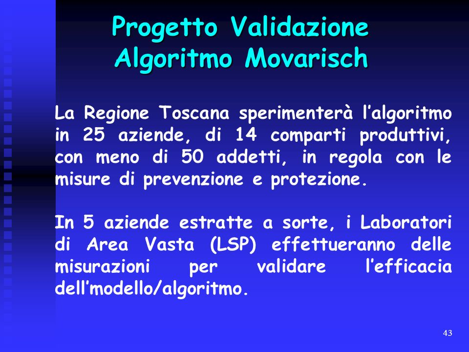 Progetto Validazione Algoritmo Movarisch